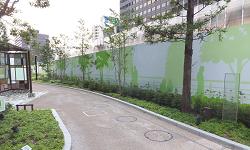 都市部 歩道整備工事 仮囲い VICパネル デザインシール